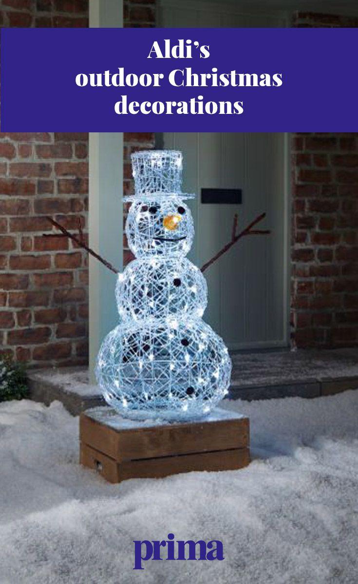Aldi's outdoor decorations are winter wonderland worthy