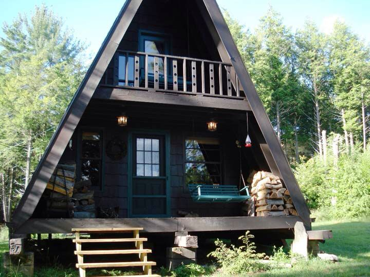 34 Best Aframe Homes Images On Pinterest Log Houses Tiny House