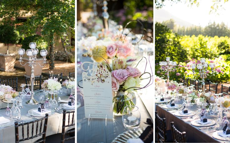 #strikingdecor #blacktiffanychairs #blush #glamorousfloral #rustic  Photography by: Vivid Blue