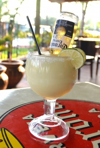 Corona Rita. Just add the beer bottle to any of your favorite margaritas, frozen or on the rocks.