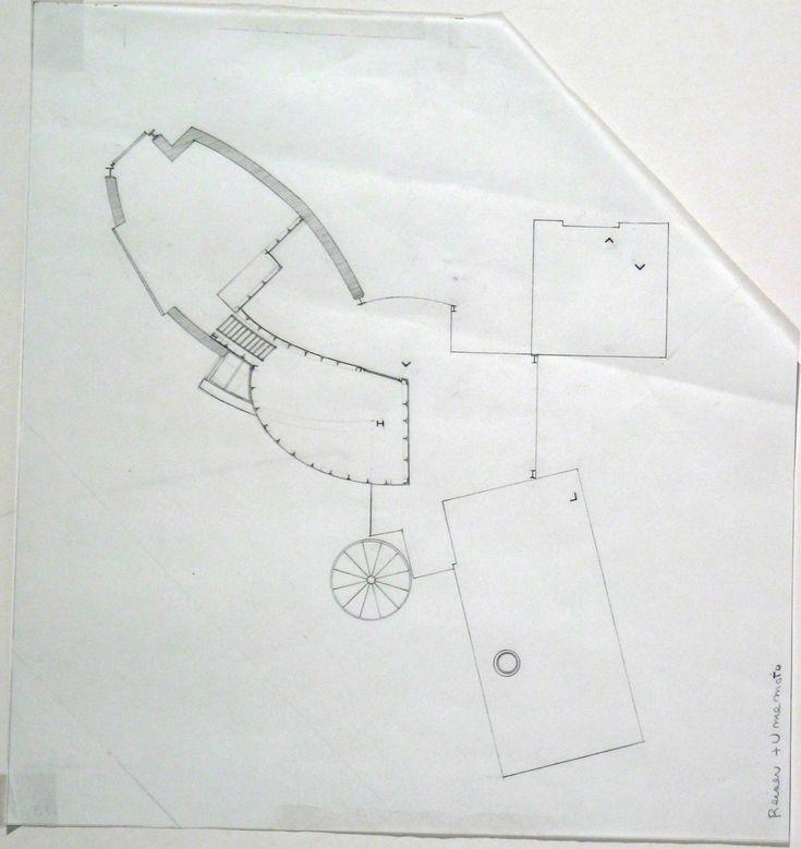 Jesse Reiser, Nanako Umemoto. Aktion Poliphile: Hypnerotomachia Ero/machia/hypniahouse, project, Wiesbaden, Germany, Second Floor Plan, preliminary version. 1989