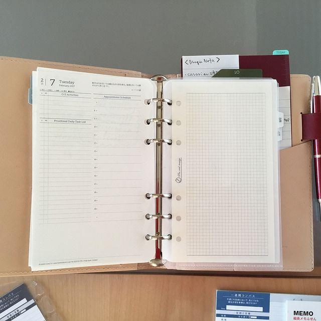 ちゃんネルDays: システム手帳のクリアフォルダリフィルを自作してみました(フランクリン・プランナー用)