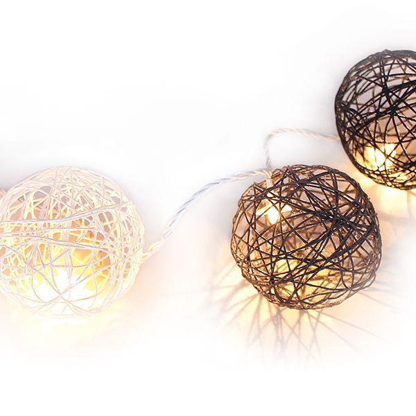 Ilmapallojen päälle voit valmistaa paperinarun ja Erikeeper-vesiseoksen avulla upeat pallovalot!