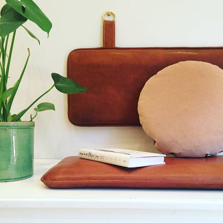 Create your own favorite spot with customized leather cushions www.bythornam.com/product/pieces #pieces #bythornam #furniture #leather #handmade #madeindenmark #slowliving #interiordesign #cushion #bench #cozy #design #hygge #luxery #cozy #corner #interiordesign #homedecor #kitchen #livingroom #hotel