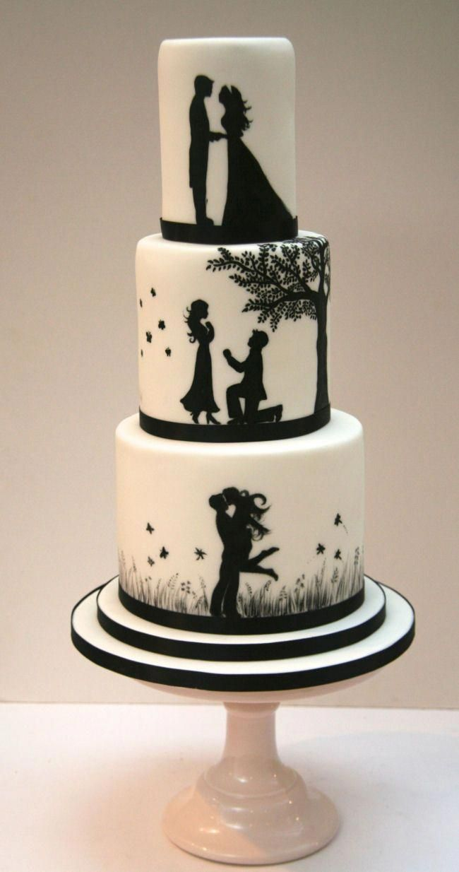 Hazelnut And Chocolate Cake Hq Recipes Recipe Silhouette Wedding Cake Wedding Cake Toppers Simple Wedding Cake