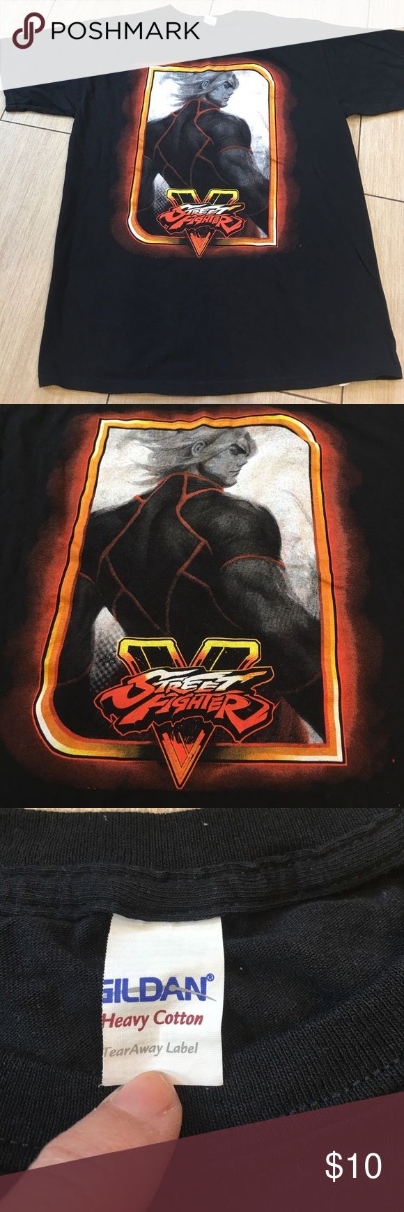 Street Fighter T-Shirt Exclusive (Youth boy size) Street Fighter T-Shirt Exclusive Its another one of those Loot Crate or Nerd Block exclusive tops. I included measurements because tear away tag has been torn away. Lol please refer to measurements & other like shirts in my closet as there are many many...lol to get correct sizing Shirts & Tops Tees - Short Sleeve