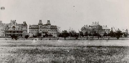 Texas A & M University, 1902 - Here you can see Old Main, the predecessor to the Academic Building you see today. We've definitely grown since these humble beginnings; but we haven't forgotten what makes us truly special - our Texas roots.