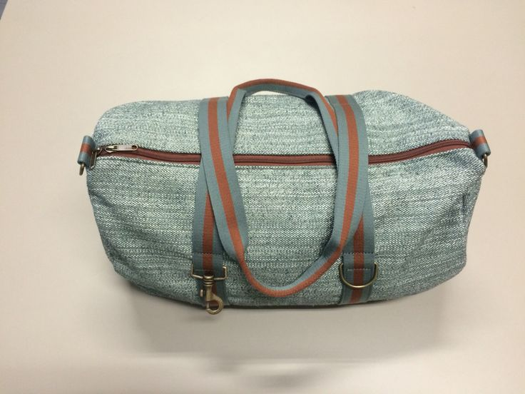 mod.24 - green gray mélange bag - gray green/bronze/gray green stripes
