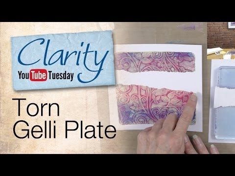 Barbara Gray gives you a fabulous 3 step gelli printing tutorial AND some great laughs along the way. Enjoy! Torn Gelli Plate - YouTube