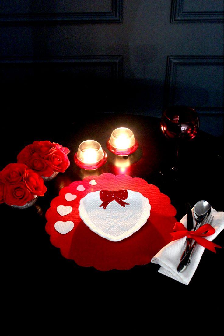 2 Adetten Oluşan Kalpli Kırmızı Renk Yuvarlak Amer