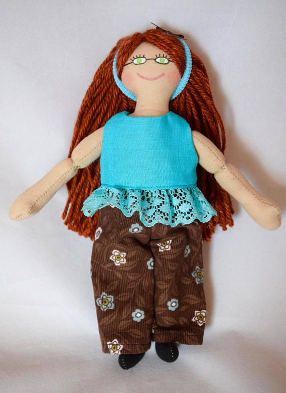 Doll With Red Hair  Kids Toy  Handmade