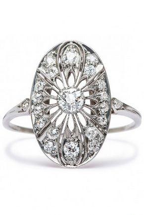 Vintage Inspired Edwardian Style Diamond engagement ring