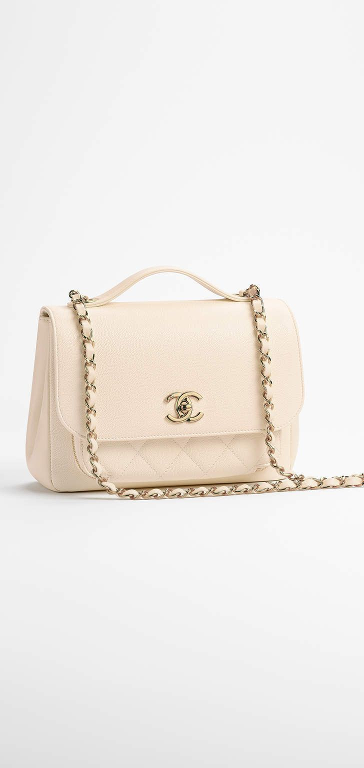 Chanel bag Spring-Summer 2017 Pre-Collection - grained calfskin, calfskin gold-tone metal-white - See more style picks on thefashiontofollow.com