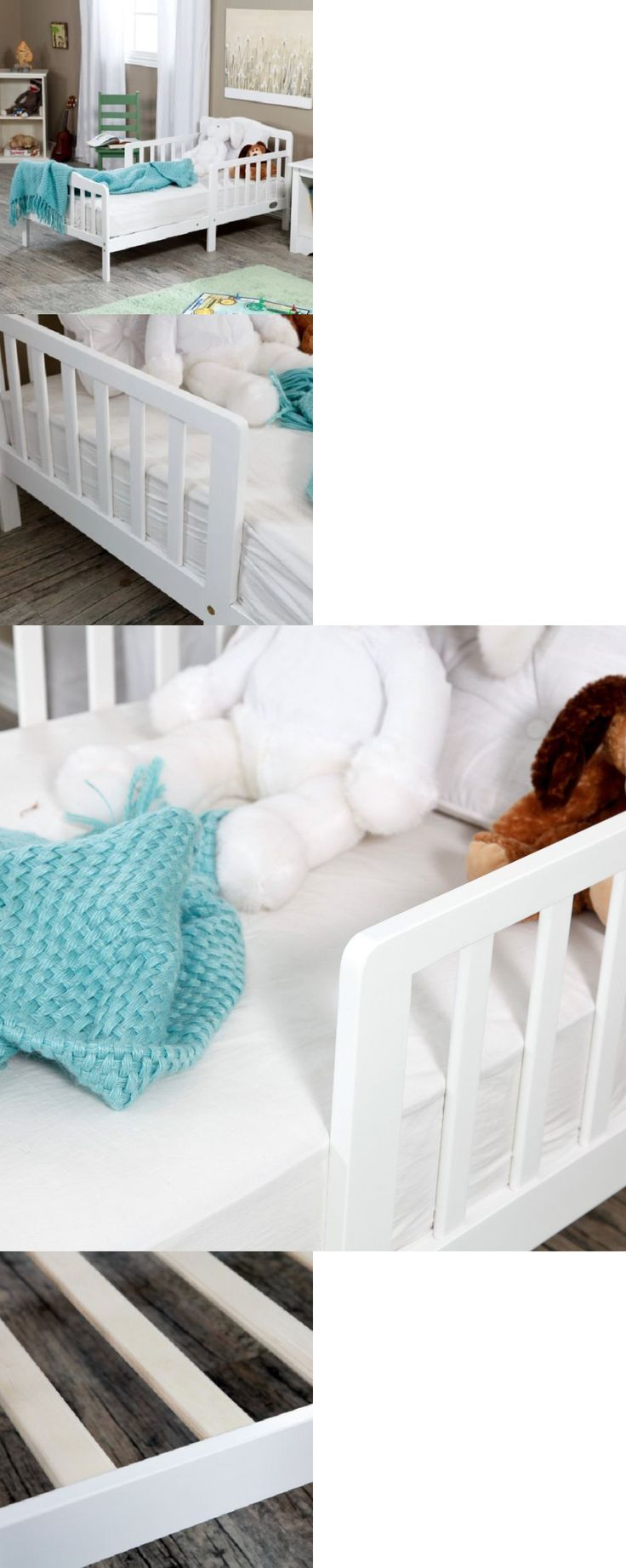 Kids Furniture: White Contemporary Toddler Bed Solid Wood Childs Bedroom Furniture Kids Beds New BUY IT NOW ONLY: $99.99