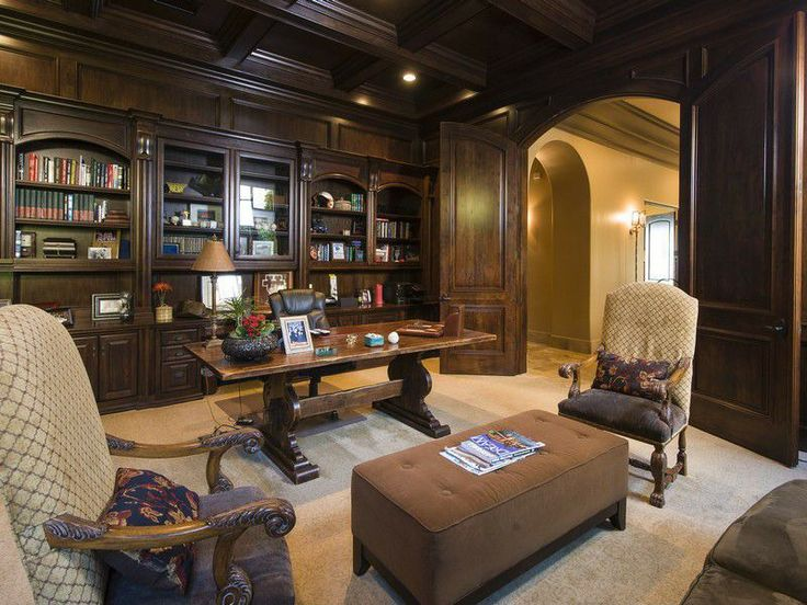 pictures of an office. dark wood tones give the feel of an office thatu0027s all business pictures s