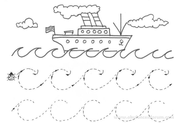 Okul öncesi basit çizgi çalışmaları | OKUL ÖNCESİ FORUM
