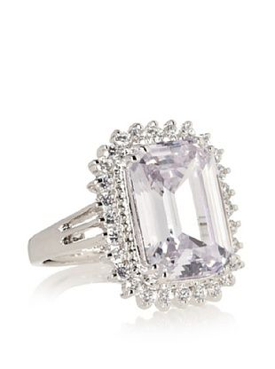 67% OFF CZ by Kenneth Jay Lane Emerald Cut Pave Ring
