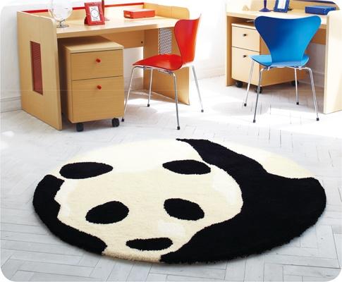 panda bear rug