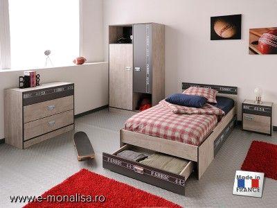 Dormitor Tineret Fabric | Dormitoare Tineret Magazin Mobila Rate