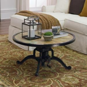 Home Decorators Collection Industrial Natural Reclaimed Extendable Coffee Table-1833600950 - The Home Depot