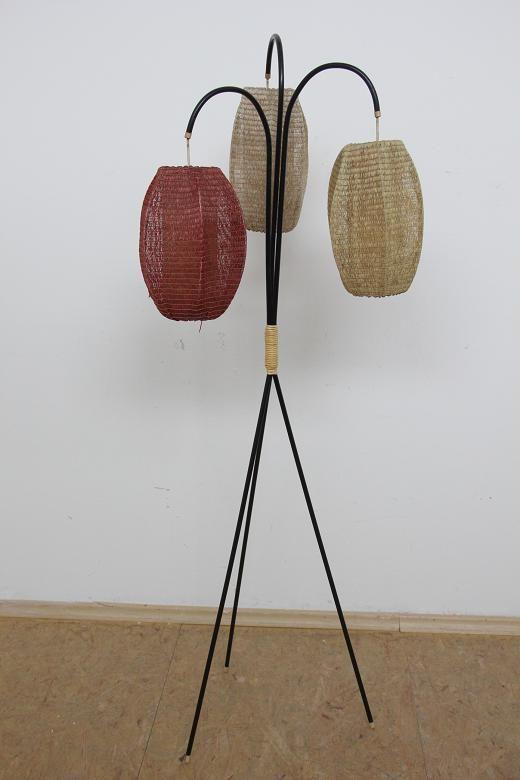50er Jahre Design Stehlampe Wohnzimmerlampe Mit 3 Schirmen