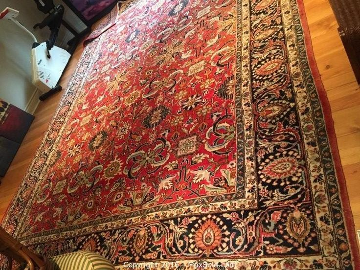 Hand Woven Wool Rug Sold on MaxSold for $700