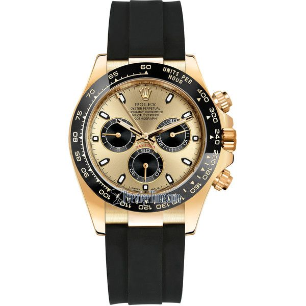Rolex Cosmograph Daytona Yellow Gold 116518LN Champagne and Black... ($28,224) ❤ liked on Polyvore featuring men's fashion, men's jewelry, men's watches, mens gold watches, rolex mens watches and mens waterproof watches Sale! Up to 75% OFF! Shot at Stylizio for women's and men's designer handbags, luxury sunglasses, watches, jewelry, purses, wallets, clothes, underwear