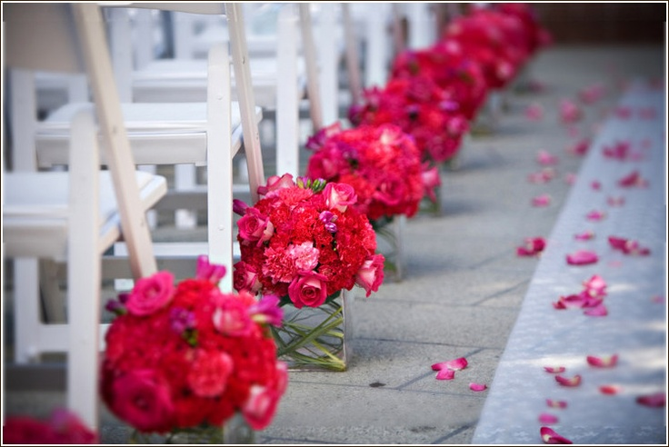 Flowers Centerpieces As Aisle Decor Portland Oregon Wedding Florist