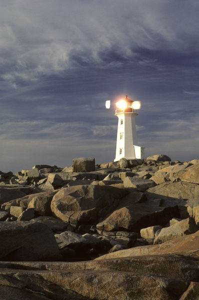 """Peggy's Cove Lighthouse"" near Halifax, Canada, Nova Scotia"