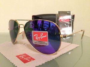 ray ban aviator purple iridium
