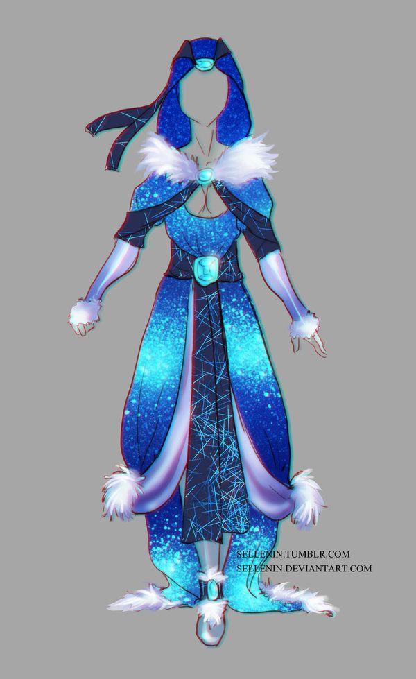 Winter outfit adopt -28 - Open by Sellenin.deviantart.com on @DeviantArt