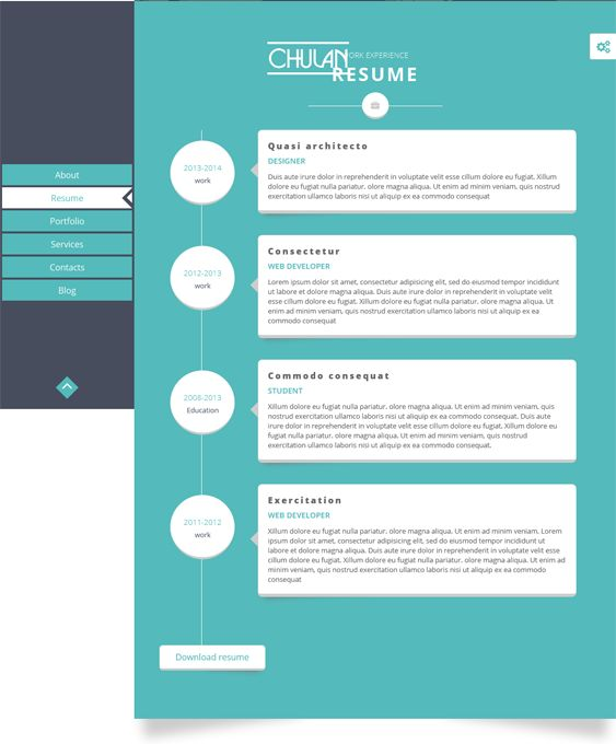 7 best 7 of the Best Resume, CV, \ vCard Joomla Themes images on - resume builder websites