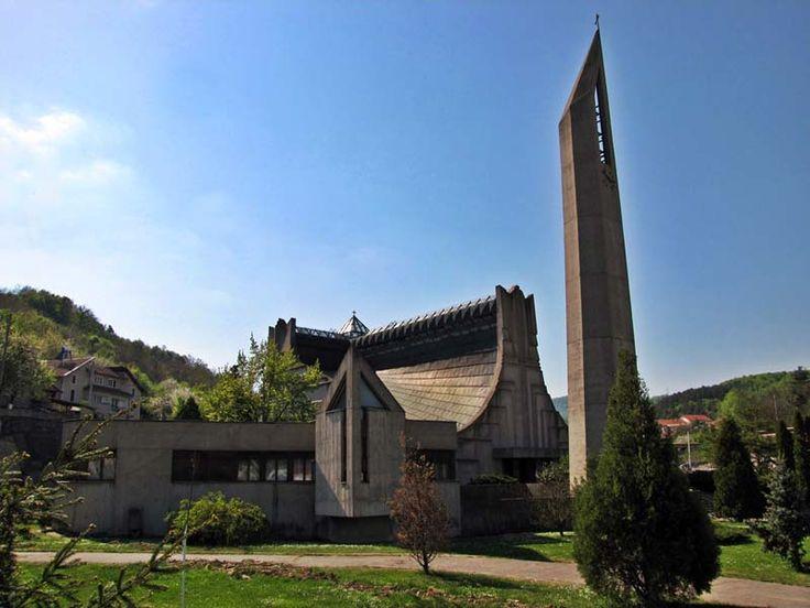 Biserica Romano Catolică(1972-1976), Orșova; arhitect Hans Fackelmann