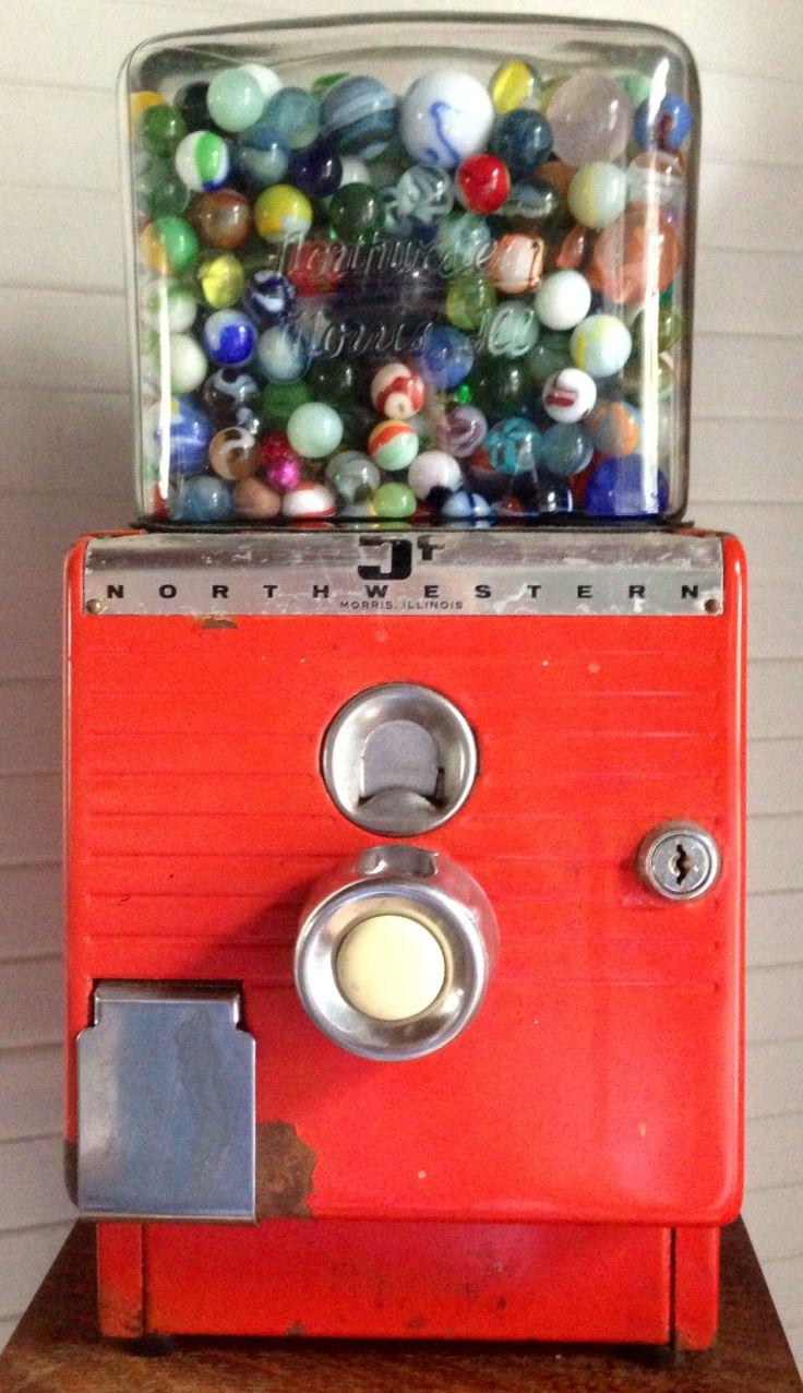 Vintage vending machines for Marbles.