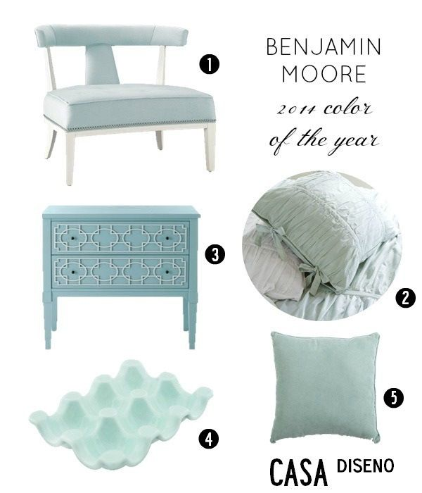 Tuesday Trend Benjamin Moore 2014 Color Trends: Benjamin Moore 2014 Color Of The Year. Called Breath Of Fresh Air. Ahhh... Refreshing!!