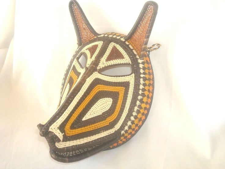 Mask Hat Handmade Woven Embera Wounaan Panama Rainforest Tribe Animal Face