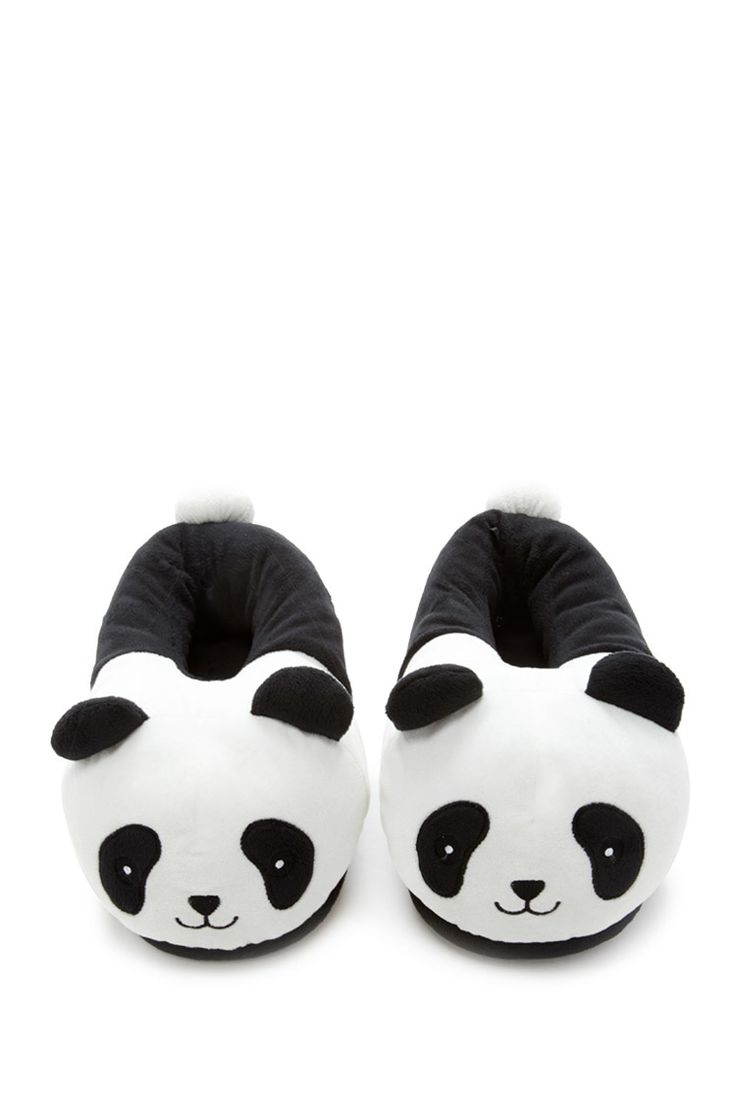 A pair of house slippers featuring an embroidered smiling panda face  and  3D ear and. Best 25  Slippers ideas on Pinterest   Womens slippers  Winter