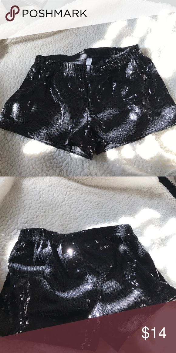 Black Sequin Shorts These shorts are great for parties or any day use! They are covered in sequins!!😍 Shorts
