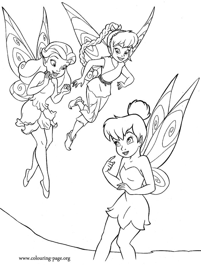 in this beautiful coloring page tinker bell meets rosetta a garden fairy and colouring