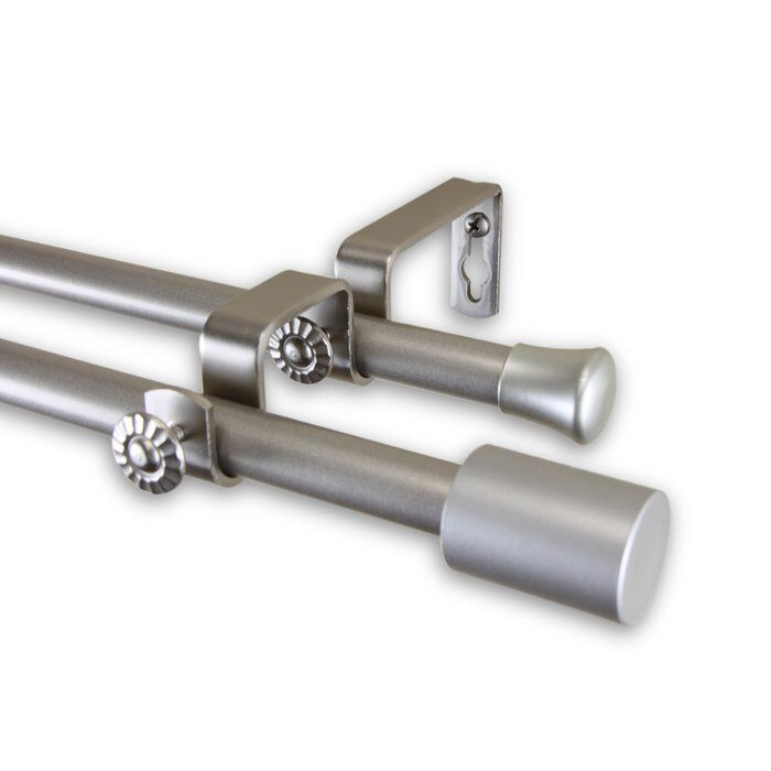 Double Curtain Rod And Hardware Set With Images Double Rod