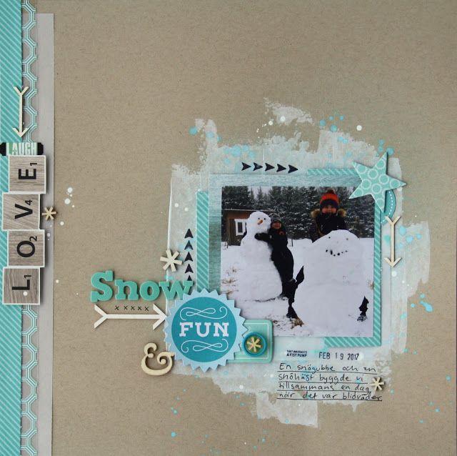 Sara Kronqvist - Saras pysselblogg: Snow fun   Winter themed scrapbook layout