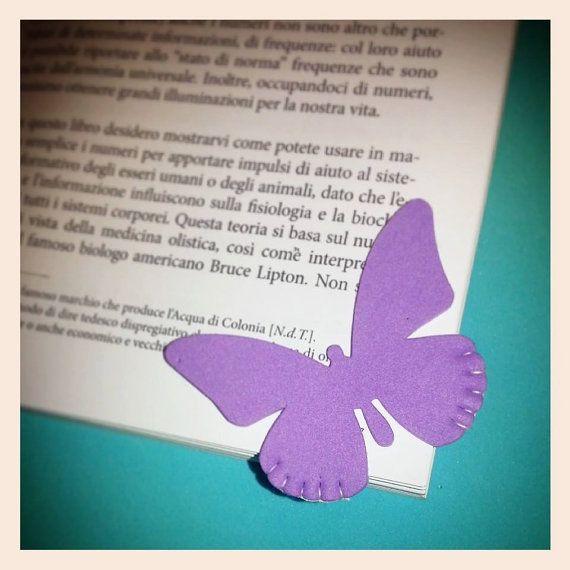 Segnalibro farfalla fatto a mano. Feltro o di LOttavoNano su Etsy