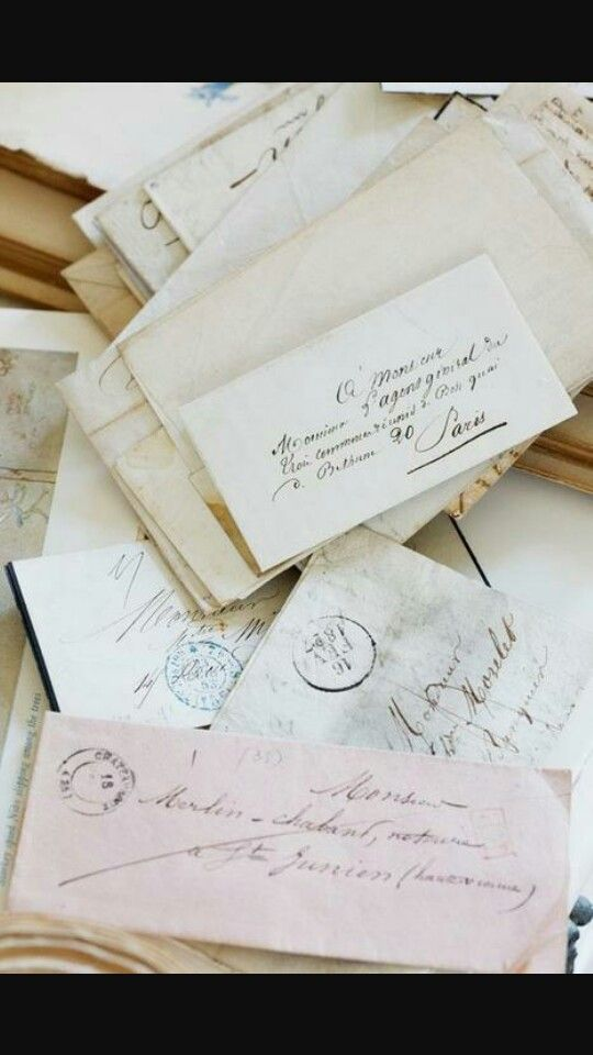 Hand written love letters from a guy