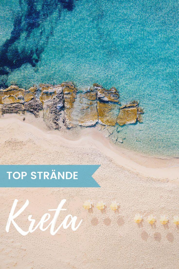 Die schönsten Strände auf Kreta. Heller Sand, t…