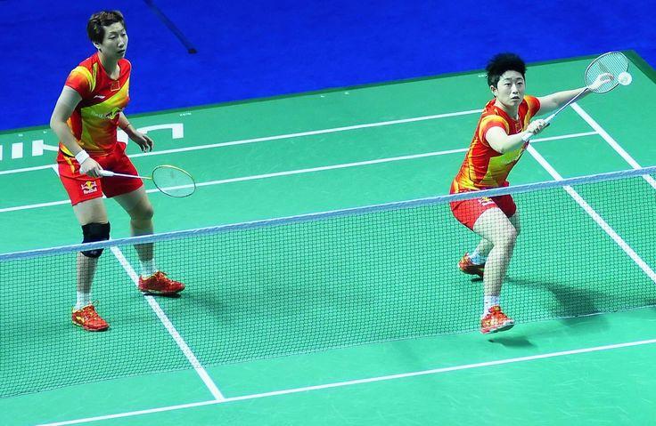 Bild zu Badminton, Damen, Wang Xiaoli, Yu Yang, Olympia (2301×1499)