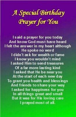 These is my prayer for you dear sister for your Birthday, Love you♥♥♥.
