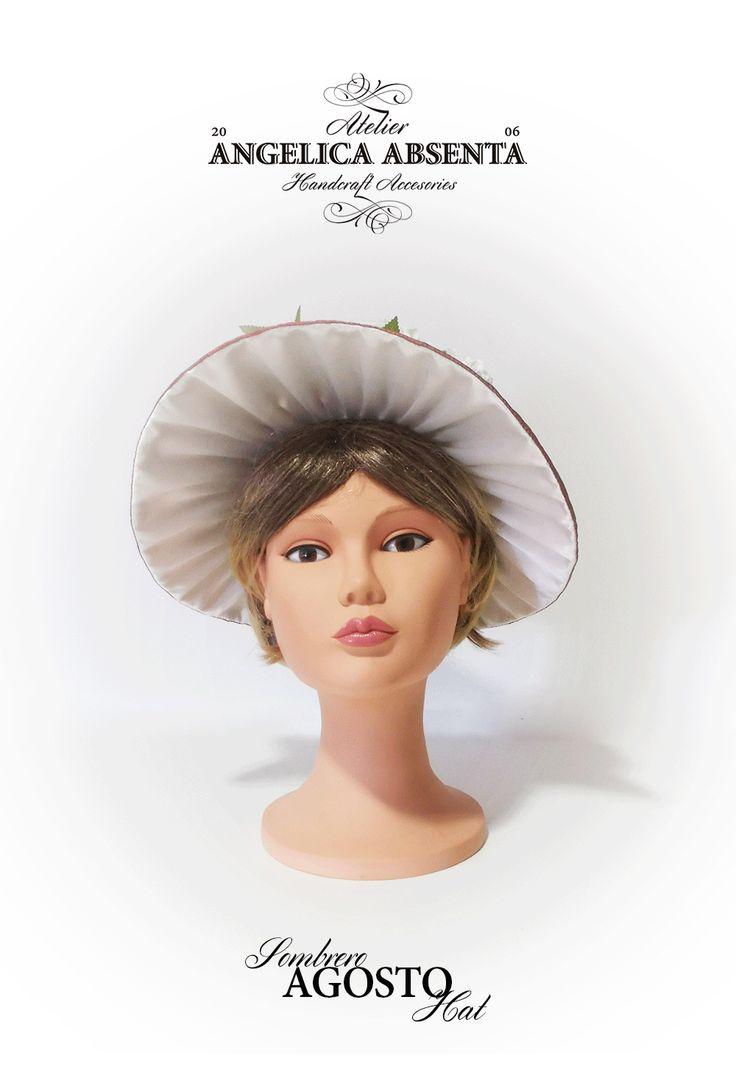 Asimetrical regency hat. More info: http://www.facebook.com/angelicaabsenta