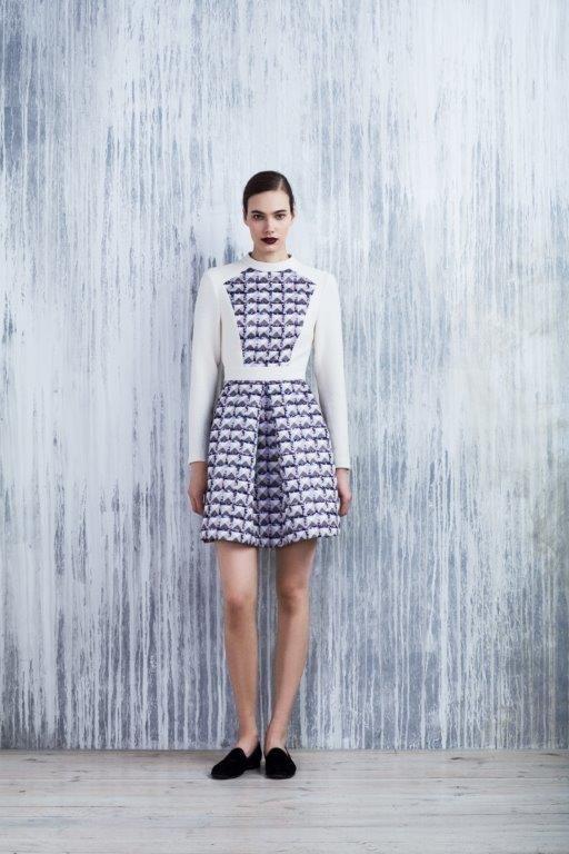 LUBLU Kira Plastinina FW14/15 digital print neoprene and cream knit cocktail dress.
