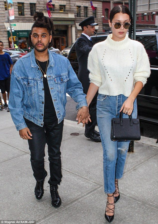 Support system: Bella Hadid was joined by her boyfriend The Weeknd as they celebrated her ...