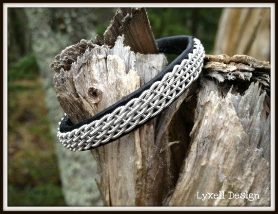 Lapland Sami Bracelet, Reindeer leather, Custom made via Etsy